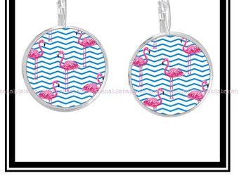 "Earrings ""Pink Flamingo"""