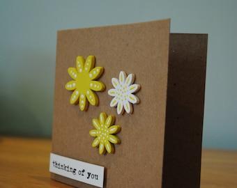 Handmade summery flowers card