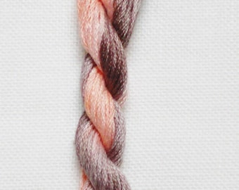 Soso escape Earth - embroidery FLOSS thread dyed hand-stitch count