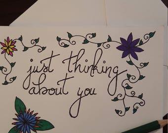 Romantic dirty greeting card