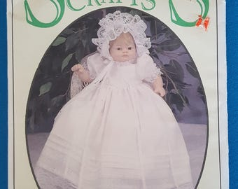 """Syndee's Crafts 24011 ~ Doll 21"""", 16"""" 10"""" Christening Pattern ~ Uncut"""
