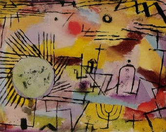 SET of TABLE semi-rigid ORIGINAL AESTHETIC WASHABLE and durable - Abstract artists - Paul Klee - a rising sun