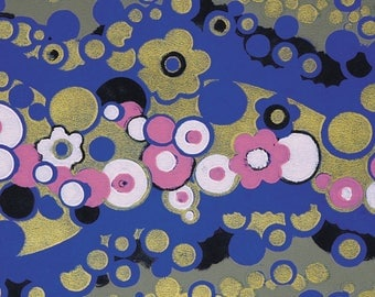 PLACEMAT DESIGN, ORIGINAL, WASHABLE and durable design - Art deco - flowers and circles on overseas.