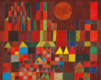 ORIGINAL SEMI rigid AESTHETIC WASHABLE and durable PLACEMAT - Paul Klee - Castle and Sun.