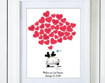 Mickey and Minnie Mouse Wedding Guest Book Alternative