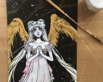 Princess Serenity Original Watercolor/Ink