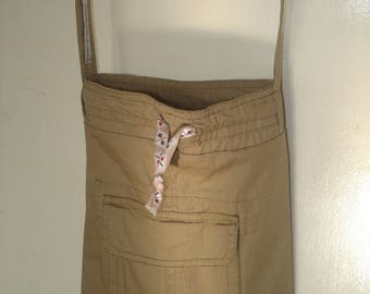 Recycled sheath, fabric shoulder bag
