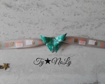 Paper origami and Ribbon Bracelet