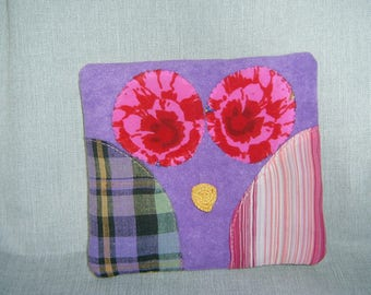 Purple and flat square blanket fabric