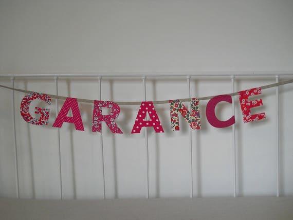 Grande guirlande pr nom 7 lettres garance - Garance prenom ...