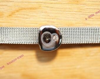 Pearl round d bubble foil bandwidth alphabet Bracelet 8mm