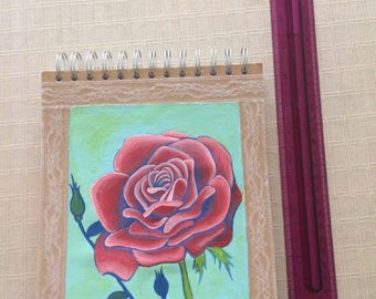 Rose painted cover sketch book
