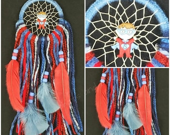 Red and Blue Dress-up Superhero Dreamcatcher