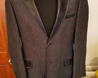 Blazer Jacket Mens - Customized by Just Cool Re-Engineering. Tailored jacket blazer - new style upcycled fashion mens gift