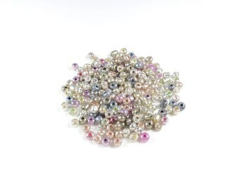 20g of multicolored Pastel & Electroplate beads 3 / 4mm LBP00478