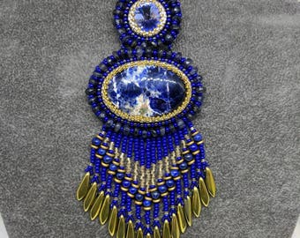 Bead Embroidery Solidite Pendant