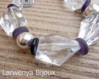 Bracelet - The faceted - transparency