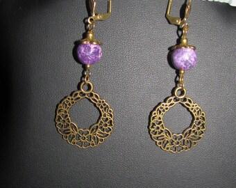 For floral and Aqua Terra Jasper earrings