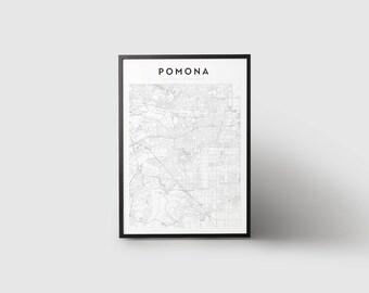 Pomona Map Print