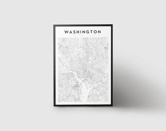 Washington Map Print