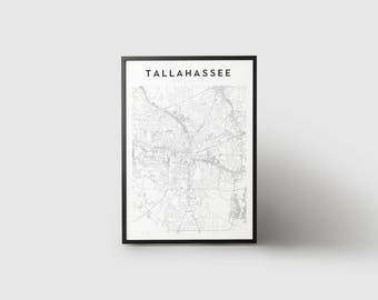 Tallahassee Map Print