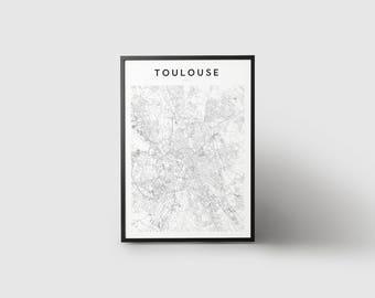 Toulouse Map Print