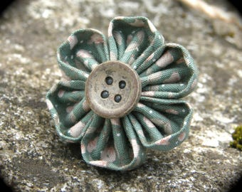 "Liberty ""poetic"" kanzashi flower ring"