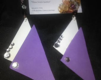 Fun with foam earrings with swarovski crystals
