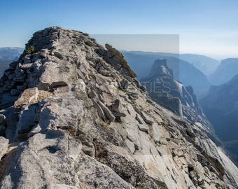 Nature Photography, Hiking Yosemite National Park Half Dome from Clouds Rest, Large Art Print