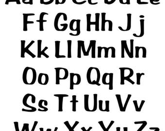 5 sets of Alphabet Letters - upper and lower case included - You choose color & size!