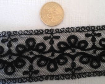 two black antique lace.