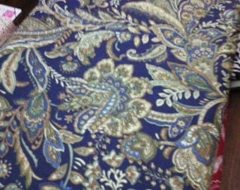 VERY pretty fabric printed on 100% cotton blue background