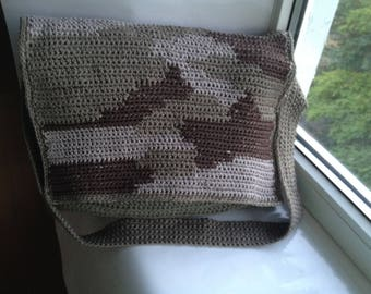 Knitted military style bag