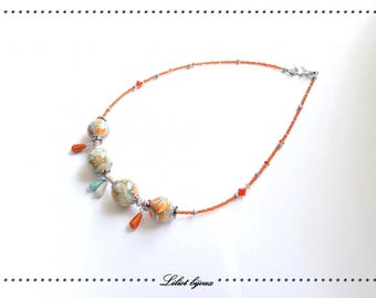 Original fashion turquoise Orange necklace