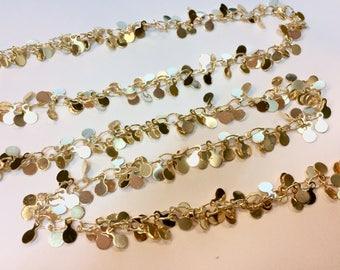 Chain cluster Lozenge 4mm Golden jewellery designs