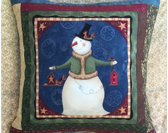 Snowman #3 Christmas Cushion Cover