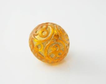 1 x Pearl orange 17mm