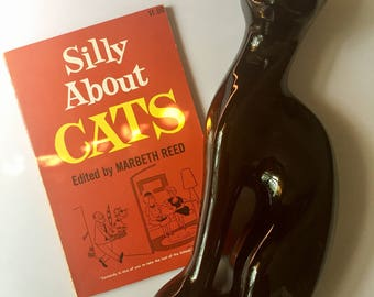 "Kitchy Vintage Comic Book, 1950s ""Silly About Cats"", Great Gift for Cat Lover or Vintage Comic Collector, Free Shipping"