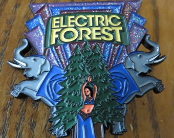 Electric Forest 2017 - Elephant Dancer Pin