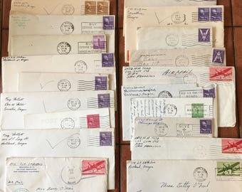 1940's letters with cancelled stamps