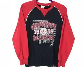 Rare!!! Converse Sweatshirt Pullover Spellout Big Picture Print Multicolors