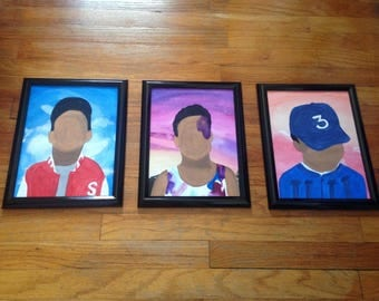 Chance The Rapper Hand Painted Album Covers