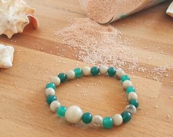 """Warm sand"" beaded bracelet"