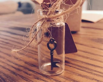 Key to my heart. Message in a Bottle