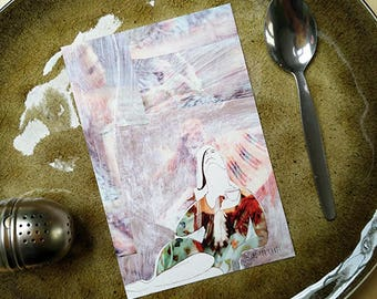 She. Cake, postcard cake, tea postcard, friendship card, celebration postcard, birthday card, tea illustration, coffee card, retirement card