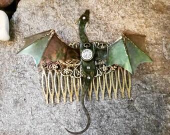 Dragon Hair comb Dragon Steampunk Khaleesi got