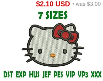SALE 30% Hello Kitty embroidery design - Instant Download machine embroidery pattern