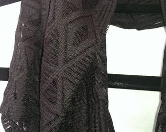 Black Lace Infinity Scarf