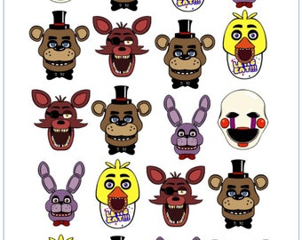 Five Nights At Freddy's Temporary Tattoo Sticker. Party Supplies Bunting Lolly Loot Bags FNAF Freddy Freddys