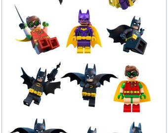 Lego Batman Superhero Temporary Tattoo Sticker. Party Supplies Bunting Lolly Loot Bags